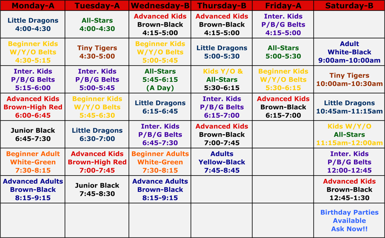 EWK Schedule - Warminster